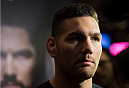 LAS VEGAS, NEVADA - MAY 20:   Chris Weidman interacts with the media at the MGM Grand Hotel/Casino on May 20, 2015 in Las Vegas Nevada. (Photo by Brandon Magnus/Zuffa LLC/Zuffa LLC via Getty Images)