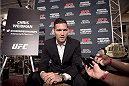 LAS VEGAS, NEVADA - MAY 21: UFC middleweight champion Chris Weidman interacts with the media during the UFC 187 Ultimate Media Day at the MGM Grand Hotel/Casino on May 21, 2015 in Las Vegas Nevada. (Photo by Brandon Magnus/Zuffa LLC/Zuffa LLC via Getty Images)
