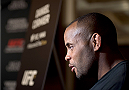 LAS VEGAS, NEVADA - MAY 21: Daniel Cormier interacts with the media during the UFC 187 Ultimate Media Day at the MGM Grand Hotel/Casino on May 21, 2015 in Las Vegas Nevada. (Photo by Brandon Magnus/Zuffa LLC/Zuffa LLC via Getty Images)