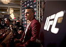 LAS VEGAS, NEVADA - MAY 21: Vitor Belfort interacts with the media during the UFC 187 Ultimate Media Day at the MGM Grand Hotel/Casino on May 21, 2015 in Las Vegas Nevada. (Photo by Brandon Magnus/Zuffa LLC/Zuffa LLC via Getty Images)