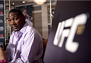 LAS VEGAS, NEVADA - MAY 21: Anthony Johnson interacts with the media during the UFC 187 Ultimate Media Day at the MGM Grand Hotel/Casino on May 21, 2015 in Las Vegas Nevada. (Photo by Brandon Magnus/Zuffa LLC/Zuffa LLC via Getty Images)