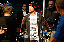 LAS VEGAS, NV - MAY 23:  Leo Kuntz walks to the Octagon to face Islam Makhachev of Russia in their lightweight bout during the UFC 187 event at the MGM Grand Garden Arena on May 23, 2015 in Las Vegas, Nevada.  (Photo by Christian Petersen/Zuffa LLC/Zuffa LLC via Getty Images)