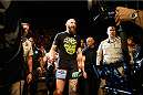LAS VEGAS, NV - MAY 23:  Travis Browne walks to the Octagon to face Andrei Arlovski in their heavyweight bout during the UFC 187 event at the MGM Grand Garden Arena on May 23, 2015 in Las Vegas, Nevada.  (Photo by Christian Petersen/Zuffa LLC/Zuffa LLC via Getty Images)