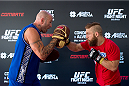 GOIANIA, BRAZIL - MAY 28: Featherweight Nik Lentz of United States holds an open training session for media at Flex Alphaville Gym on May 28, 2015 in Goiania, Brazil. (Photo by Buda Mendes/Zuffa LLC/Zuffa LLC via Getty Images)