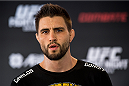 GOIANIA, BRAZIL - MAY 28: Welterweight Carlos Condit of the United States poses for a photo during an open training session for media at Flex Alphaville Gym on May 28, 2015 in Goiania, Brazil. (Photo by Buda Mendes/Zuffa LLC/Zuffa LLC via Getty Images)