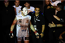 GOIANIA, BRAZIL - MAY 30:  Rony Jackson of Brazil enters the arena prior to his UFC featherweight bout against Damon Jackson of the United states during the UFC Fight Night Condit v Alves at Arena Goiania on May 30, 2015 in Goiania.  (Photo by Buda Mendes/Zuffa LLC/Zuffa LLC via Getty Images)