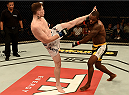 GOIANIA, BRAZIL - MAY 30:  Darren Till of England kicks Wendell Oliveira of Brazil in their welterweight UFC bout during the UFC Fight Night event at Arena Goiania on May 30, 2015 in Goiania.  (Photo by Buda Mendes/Zuffa LLC/Zuffa LLC via Getty Images)