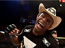 GOIANIA, BRAZIL - MAY 30:  Alex Oliveira of Brazil celebrates victory over KJ Noons of the United States in their welterweight UFC bout during the UFC Fight Night event at Arena Goiania on May 30, 2015 in Goiania.  (Photo by Buda Mendes/Zuffa LLC/Zuffa LLC via Getty Images)