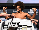 NEW ORLEANS, LA - JUNE 05:   Alex Caceres weighs in during the UFC weigh-in at the Smoothie King Center on June 5, 2015 in New Orleans, Louisiana. (Photo by Josh Hedges/Zuffa LLC/Zuffa LLC via Getty Images)