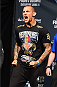 NEW ORLEANS, LA - JUNE 05:  Dustin Poirier weighs in during the UFC weigh-in at the Smoothie King Center on June 5, 2015 in New Orleans, Louisiana. (Photo by Josh Hedges/Zuffa LLC/Zuffa LLC via Getty Images)