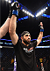 NEW ORLEANS, LA - JUNE 06:   Omari Akhmedov celebrates his victory over Brian Ebersole in their welterweight bout during the UFC event at the Smoothie King Center on June 6, 2015 in New Orleans, Louisiana. (Photo by Josh Hedges/Zuffa LLC/Zuffa LLC via Getty Images)