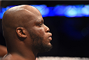 NEW ORLEANS, LA - JUNE 06:   Derrick Lewis enters the Octagon before facing Shawn Jordan in their heavyweight bout during the UFC event at the Smoothie King Center on June 6, 2015 in New Orleans, Louisiana. (Photo by Josh Hedges/Zuffa LLC/Zuffa LLC via Getty Images)