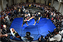 MEXICO CITY, MEXICO - JUNE 10:  UFC interim heavyweight champion Fabricio Werdum of Brazil holds an open training session during the UFC 188 open workouts at the Interactive Museum of Economics on June 10, 2015 in Mexico City, Mexico. (Photo by Jeff Bottari/Zuffa LLC/Zuffa LLC via Getty Images)