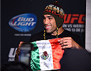 MEXICO CITY, MEXICO - JUNE 11:  UFC interim heavyweight champion Fabricio Werdum of Brazil interacts with the media during the UFC 188 Ultimate Media Day at the Hyatt Hotel on June 11, 2015 in Mexico City, Mexico. (Photo by Jeff Bottari/Zuffa LLC/Zuffa LLC via Getty Images)