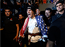 MEXICO CITY, MEXICO - JUNE 13:  Charles Rosa of the United States prepares to enter the Octagon before facing Yair Rodriguez of Mexico in their featherweight bout during the UFC 188 event at the Arena Ciudad de Mexico on June 13, 2015 in Mexico City, Mexico. (Photo by Jeff Bottari/Zuffa LLC/Zuffa LLC via Getty Images)