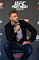 BERLIN, GERMANY - JUNE 19:   Alexander Gustafsson interacts with fans during a Q&A session before the UFC Berlin weigh-in at the O2 World on June 19, 2015 in Berlin, Germany. (Photo by Josh Hedges/Zuffa LLC/Zuffa LLC via Getty Images)