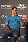 BERLIN, GERMANY - JUNE 19:   Stipe Miocic interacts with fans during a Q&A session before the UFC Berlin weigh-in at the O2 World on June 19, 2015 in Berlin, Germany. (Photo by Josh Hedges/Zuffa LLC/Zuffa LLC via Getty Images)