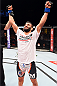 HOLLYWOOD, FL - JUNE 27:  Sirwan Kakai of Sweden celebrates after defeating Danny Martinez in their bantamweight during the UFC Fight Night event at the Hard Rock Live on June 27, 2015 in Hollywood, Florida. (Photo by Josh Hedges/Zuffa LLC/Zuffa LLC via Getty Images)