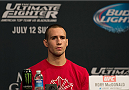 LAS VEGAS, NEVADA - JULY 9:  Rory MacDonald speaks to the media during the UFC 189 & TUF Finale Press Conference at MGM Grand Hotel & Casino on July 9, 2015 in Las Vegas Nevada. (Photo by Brandon Magnus/Zuffa LLC/Zuffa LLC via Getty Images)