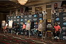 LAS VEGAS, NEVADA - JULY 9:  A general view of the UFC 189 & TUF Finale Ultimate Media Day at MGM Grand Hotel & Casino on July 9, 2015 in Las Vegas Nevada. (Photo by Brandon Magnus/Zuffa LLC/Zuffa LLC via Getty Images)
