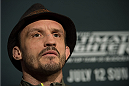 LAS VEGAS, NEVADA - JULY 9:   Brad Pickett speaks to the media during the UFC 189 & TUF Finale Ultimate Media Day at MGM Grand Hotel & Casino on July 9, 2015 in Las Vegas Nevada. (Photo by Brandon Magnus/Zuffa LLC/Zuffa LLC via Getty Images)