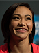 LAS VEGAS, NEVADA - JULY 9:   Michelle Waterson speaks to the media during the UFC 189 & TUF Finale Ultimate Media Day at MGM Grand Hotel & Casino on July 9, 2015 in Las Vegas Nevada. (Photo by Brandon Magnus/Zuffa LLC/Zuffa LLC via Getty Images)