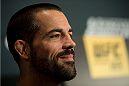 LAS VEGAS, NEVADA - JULY 9:   Matt Brown speaks to the media during the UFC 189 & TUF Finale Ultimate Media Day at MGM Grand Hotel & Casino on July 9, 2015 in Las Vegas Nevada. (Photo by Brandon Magnus/Zuffa LLC/Zuffa LLC via Getty Images)