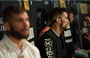 LAS VEGAS, NEVADA - JULY 9:   Brandon Thatch speaks to the media during the UFC 189 & TUF Finale Ultimate Media Day at MGM Grand Hotel & Casino on July 9, 2015 in Las Vegas Nevada. (Photo by Brandon Magnus/Zuffa LLC/Zuffa LLC via Getty Images)