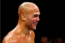 LAS VEGAS, NV - JULY 11:  Robbie Lawler smiles during his UFC welterweight title fight during the UFC 189 event inside MGM Grand Garden Arena on July 11, 2015 in Las Vegas, Nevada.  (Photo by Josh Hedges/Zuffa LLC/Zuffa LLC via Getty Images) *** Local Caption *** Robbie Lawler