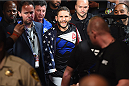 LAS VEGAS, NV - JULY 11:  Chad Mendes walks to the Octagon to face Conor McGregor in their UFC interim featherweight title fight during the UFC 189 event inside MGM Grand Garden Arena on July 11, 2015 in Las Vegas, Nevada.  (Photo by Josh Hedges/Zuffa LLC/Zuffa LLC via Getty Images) *** Local Caption *** Chad Mendes