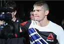 LAS VEGAS, NV - JULY 12:  Stephen Thompson walks to the Octagon to face Jake Ellenberger in their welterweight bout during the Ultimate Fighter Finale inside MGM Grand Garden Arena on July 12, 2015 in Las Vegas, Nevada.  (Photo by Mitch Viquez/Zuffa LLC/Zuffa LLC via Getty Images)