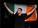 GLASGOW, SCOTLAND - JULY 17:  Joe Duffy of Ireland prepares to step on the scale during the UFC weigh-in inside the SSE Hydro on July 17, 2015 in Glasgow, Scotland.  (Photo by Josh Hedges/Zuffa LLC/Zuffa LLC via Getty Images)