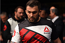 GLASGOW, SCOTLAND - JULY 18:  Daniel Omielanczuk of Poland enters the arena before his heavyweight fight against Chris De La Rocha of the United States during the UFC Fight Night event inside the SSE Hydro on July 18, 2015 in Glasgow, Scotland.  (Photo by Josh Hedges/Zuffa LLC/Zuffa LLC via Getty Images)