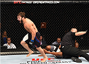 GLASGOW, SCOTLAND - JULY 18:  Jimmie Rivera of the United States reacts after his TKO victory over Marcus Brimage of the United States in their bantamweight fight during the UFC Fight Night event inside the SSE Hydro on July 18, 2015 in Glasgow, Scotland.  (Photo by Josh Hedges/Zuffa LLC/Zuffa LLC via Getty Images)