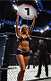 GLASGOW, SCOTLAND - JULY 18:  UFC Octagon Girl Kristie Pearson introduces a round during the UFC Fight Night event inside the SSE Hydro on July 18, 2015 in Glasgow, Scotland.  (Photo by Josh Hedges/Zuffa LLC/Zuffa LLC via Getty Images)