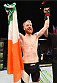 GLASGOW, SCOTLAND - JULY 18:  Paddy Holohan of Ireland reacts after his unanimous-decision victory over Vaughan Lee of England in their flyweight fight during the UFC Fight Night event inside the SSE Hydro on July 18, 2015 in Glasgow, Scotland.  (Photo by Josh Hedges/Zuffa LLC/Zuffa LLC via Getty Images)