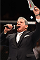 GLASGOW, SCOTLAND - JULY 18:  Bruce Buffer introduces the main event during the UFC Fight Night event inside the SSE Hydro on July 18, 2015 in Glasgow, Scotland.  (Photo by Josh Hedges/Zuffa LLC/Zuffa LLC via Getty Images)
