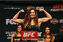 CHICAGO, IL - JULY 24:  Miesha Tate steps on the scale during the UFC weigh-in at the United Center on July 24, 2015 in Chicago, Illinois. (Photo by Rey Del Rio/Zuffa LLC/Zuffa LLC via Getty Images)