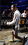 CHICAGO, IL - JULY 25:   Danny Castillo enters the arena before his lightweight bout against Jim Miller during the UFC event at the United Center on July 25, 2015 in Chicago, Illinois. (Photo by Jeff Bottari/Zuffa LLC/Zuffa LLC via Getty Images)