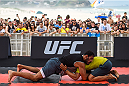 RIO DE JANEIRO, BRAZIL - JULY 29:  Light heavyweight contender Antonio Rogerio Nogueira of Brazil holds an open training session at Pepe Beach on July 29, 2015 in Rio de Janeiro, Brazil.  (Photo by Buda Mendes/Zuffa LLC/Zuffa LLC via Getty Images)