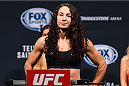 NASHVILLE, TN - AUGUST 07:  Sara McMann steps on the scale during the UFC weigh-in at Bridgestone Arena on August 7, 2015 in Nashville, Tennessee.  (Photo by Josh Hedges/Zuffa LLC/Zuffa LLC via Getty Images)