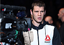 SASKATOON, SK - AUGUST 23:  Nikita Krylov of Ukraine enters the arena before his light heavyweight bout Marcos Rogerio de Lima of Brazil during the UFC event at the SaskTel Centre on August 23, 2015 in Saskatoon, Saskatchewan, Canada. (Photo by Jeff Bottari/Zuffa LLC/Zuffa LLC via Getty Images)
