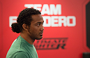 LAS VEGAS, NV - MARCH 24:  Former lightweight champion Benson Henderson stops by the TUF gym during the filming of The Ultimate Fighter Latin America: Team Gastelum vs Team Escudero  on March 24, 2015 in Las Vegas, Nevada. (Photo by Brandon Magnus/Zuffa LLC/Zuffa LLC via Getty Images) *** Local Caption ***
