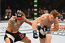 LAS VEGAS, NV - SEPTEMBER 05: (R-L) Paul Felder punches Ross Pearson in their lightweight bout during the UFC 191 event inside MGM Grand Garden Arena on September 5, 2015 in Las Vegas, Nevada.  (Photo by Josh Hedges/Zuffa LLC/Zuffa LLC via Getty Images) *** Local Caption *** Ross Pearson; Paul Felder