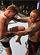 LAS VEGAS, NV - SEPTEMBER 05: (L-R) Paul Felder knees Ross Pearson in their lightweight bout during the UFC 191 event inside MGM Grand Garden Arena on September 5, 2015 in Las Vegas, Nevada.  (Photo by Josh Hedges/Zuffa LLC/Zuffa LLC via Getty Images) *** Local Caption *** Ross Pearson; Paul Felder