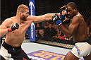 LAS VEGAS, NV - SEPTEMBER 05: (L-R) Jan Blachowicz punches Corey Anderson in their light heavyweight bout during the UFC 191 event inside MGM Grand Garden Arena on September 5, 2015 in Las Vegas, Nevada.  (Photo by Josh Hedges/Zuffa LLC/Zuffa LLC via Getty Images) *** Local Caption *** Jan Blachowicz; Corey Anderson