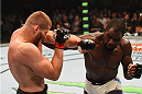 LAS VEGAS, NV - SEPTEMBER 05: (R-L) Corey Anderson punches Jan Blachowicz in their light heavyweight bout during the UFC 191 event inside MGM Grand Garden Arena on September 5, 2015 in Las Vegas, Nevada.  (Photo by Josh Hedges/Zuffa LLC/Zuffa LLC via Getty Images) *** Local Caption *** Jan Blachowicz; Corey Anderson