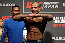 SAITAMA, JAPAN - SEPTEMBER 25: Diego Brandao during the UFC weigh-in at the Saitama Super Arena on September 25, 2015 in Saitama, Japan. (Photo by Mitch Viquez/Zuffa LLC/Zuffa LLC via Getty Images)