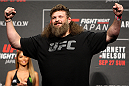 SAITAMA, JAPAN - SEPTEMBER 25: Roy Nelson during the UFC weigh-in at the Saitama Super Arena on September 25, 2015 in Saitama, Japan. (Photo by Mitch Viquez/Zuffa LLC/Zuffa LLC via Getty Images)