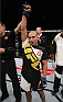 SAITAMA, JAPAN - SEPTEMBER 27: Diego Brandao of Brazil celebrates after his first round win over Katsunori Kikuno of Japan in their featherweight bout during the UFC event at the Saitama Super Arena on September 27, 2015 in Saitama, Japan. (Photo by Mitch Viquez/Zuffa LLC/Zuffa LLC via Getty Images)